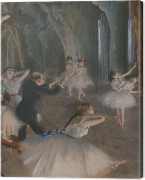 Obraz na płótnie Edgar Degas - Próba baletowa na scenie - Reprodukcje