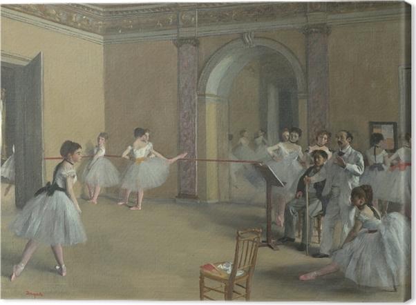 Obraz na płótnie Edgar Degas - Sala prób w Operze przy Rue Le Peletier - Reprodukcje