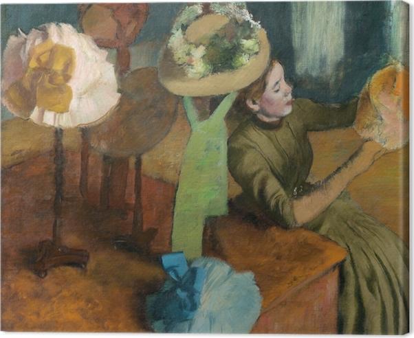 Obraz na płótnie Edgar Degas - Sklep z kapeluszami - Reprodukcje