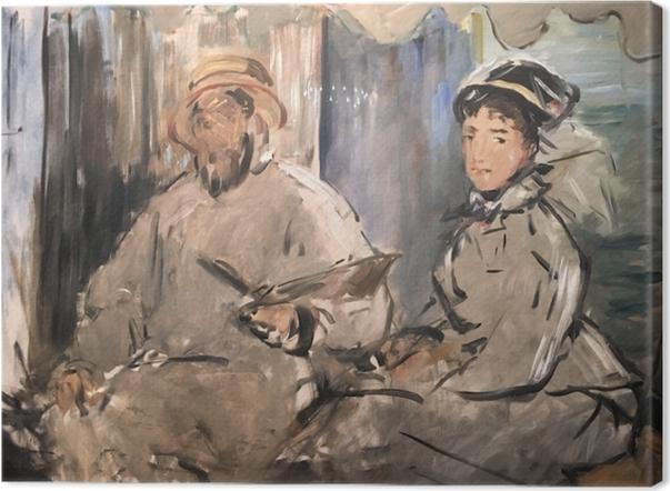 Obraz na płótnie Édouard Manet - Monet w swym pływającym studio - Reproductions
