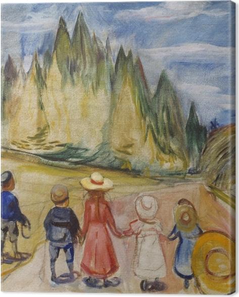 Obraz na płótnie Edvard Munch - Bajkowy Las - Reprodukcje
