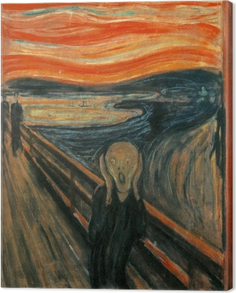 Obraz na płótnie Edvard Munch - Krzyk - Reprodukcje