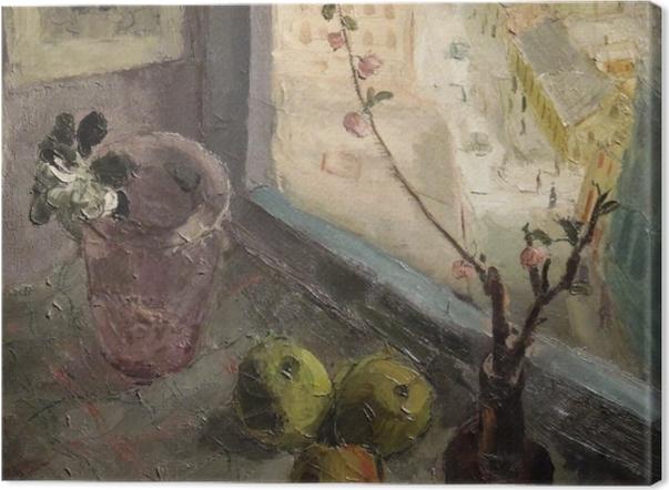 Obraz na płótnie Efraim i Menasze Seidenbeutlowie - Widok z okna - Reproductions