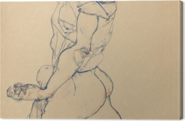 Obraz na płótnie Egon Schiele - Atletka - Reprodukcje