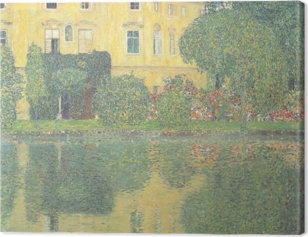 Obraz na płótnie Egon Schiele - Drzewa odbijające się w stawie - Reprodukcje