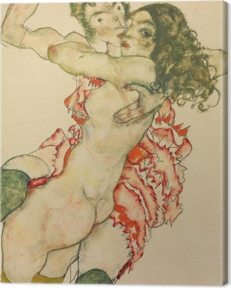 Obraz na płótnie Egon Schiele - Dwie kobiety - Reprodukcje