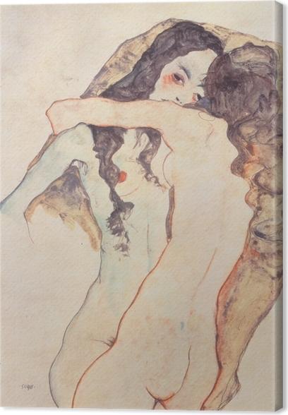 Obraz na płótnie Egon Schiele - Dwie kochanki - Reprodukcje