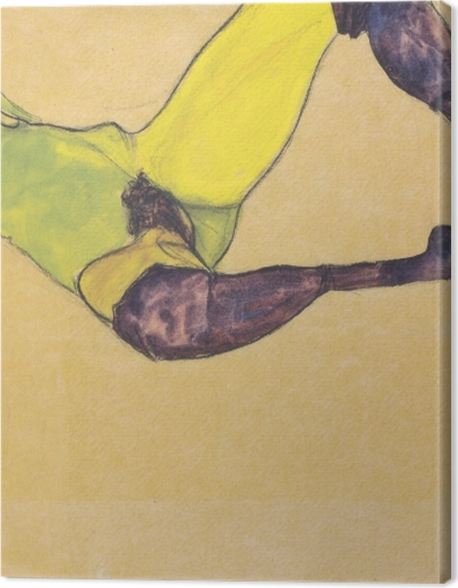 Obraz na płótnie Egon Schiele - Kobieta w niebieskich pończochach - Reprodukcje
