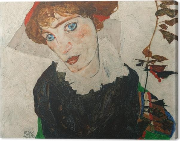 Obraz na płótnie Egon Schiele - Portret Gerti Schiele - Reprodukcje