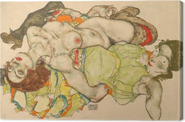 Obraz na płótnie Egon Schiele - Przyjaciółki - Reprodukcje
