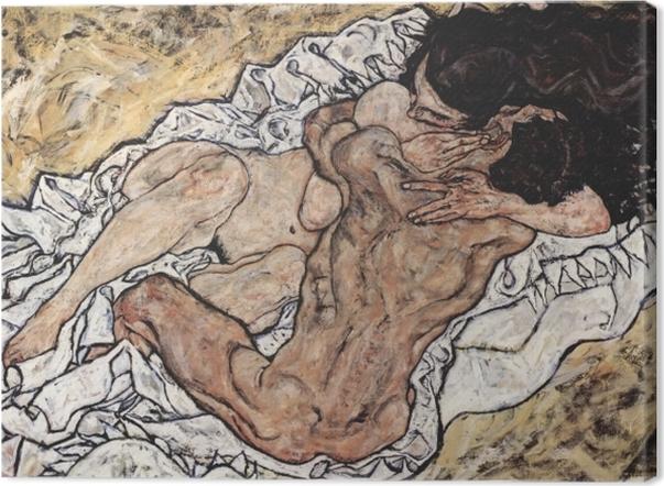 Obraz na płótnie Egon Schiele - Uścisk - Reprodukcje