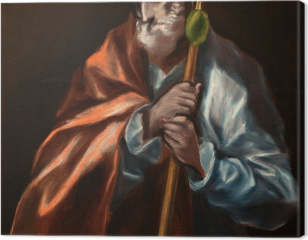Obraz na płótnie El Greco - Apostoł Tadeusz - Reprodukcje