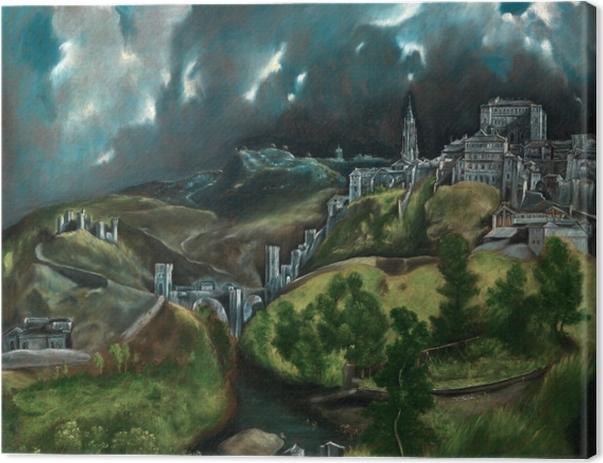 Obraz na płótnie El Greco - Burza nad Toledo - Reprodukcje