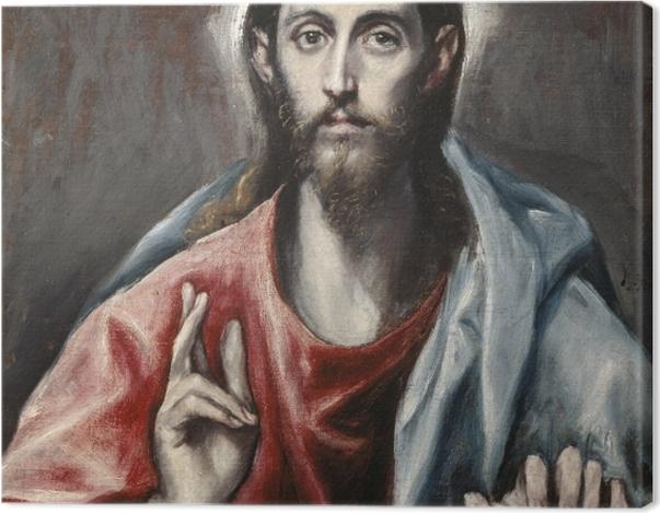 Obraz na płótnie El Greco - Chrystus jako Zbawca - Reprodukcje