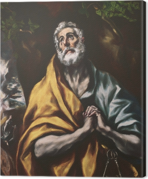 Obraz na płótnie El Greco - Łzy św. Piotra - Reprodukcje