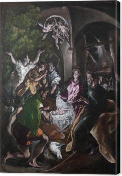 Obraz na płótnie El Greco - Pokłon pasterzy - Reprodukcje