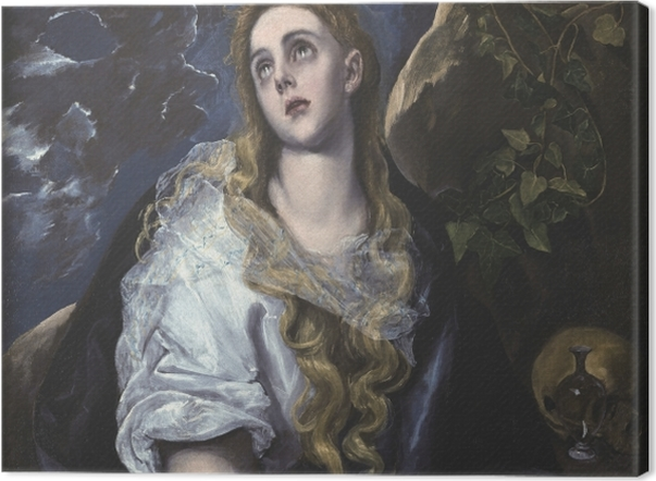 Obraz na płótnie El Greco - Pokutująca Maria Magdalena - Reprodukcje
