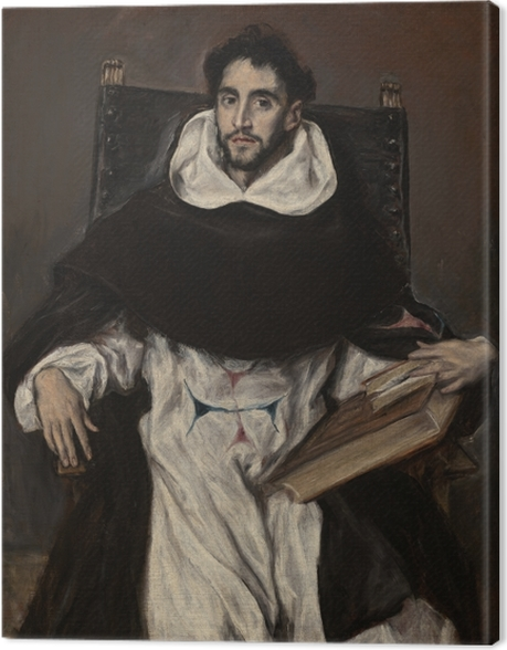 Obraz na płótnie El Greco - Portret ojca Hortensia - Reprodukcje
