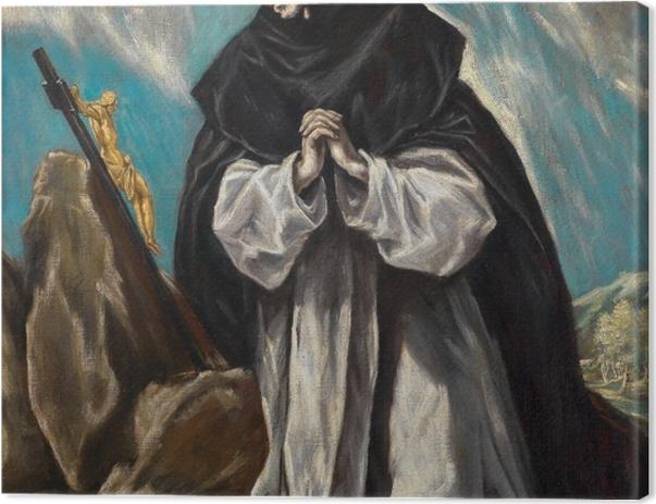 Obraz na płótnie El Greco - Św. Dominik pogrążony w modlitwie - Reprodukcje