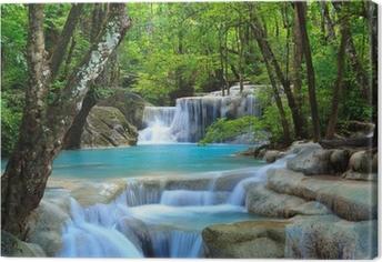 Obraz na płótnie Erawan wodospad, Kanchanaburi, Tajlandia