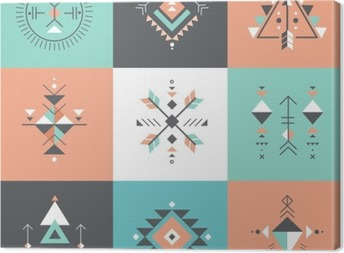 Obraz na płótnie Esoteric, Alchemia, świętej geometrii, tribal i Azteków, świętej geometrii, Mystic kształty, symbole