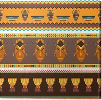 Obraz na płótnie Etnicznych African abstrakcyjne geometryczne szwu wzór tkaniny.