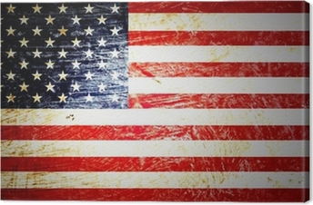 Obraz na płótnie Flaga amerykańska