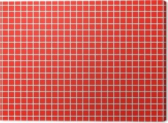 Obraz na płótnie FLIESEN czerwona dachówka czerwona
