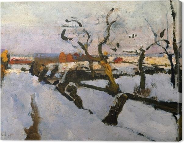 Obraz na płótnie Floris Verster - Studium śniegu - Reproductions