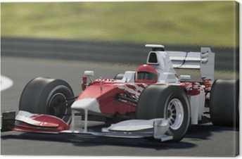 Obraz na płótnie Formuła jeden wyścig samochodowy