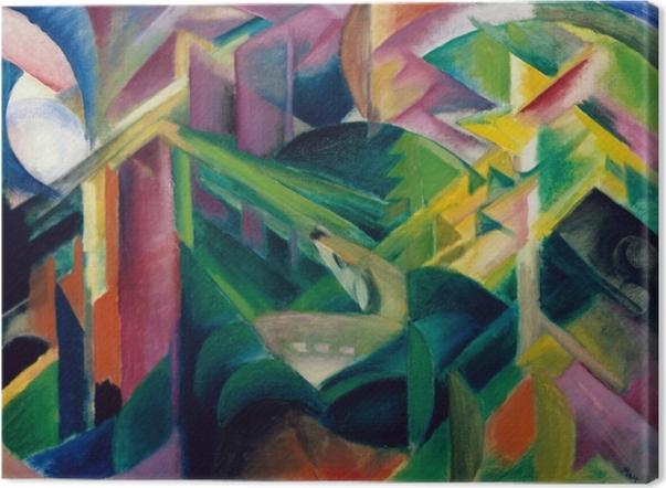 Obraz na płótnie Franz Marc - Jeleń w klasztornym ogrodzie - Reproductions