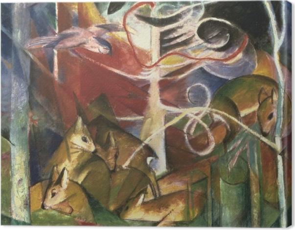 Obraz na płótnie Franz Marc - Jeleń w lesie I - Reproductions