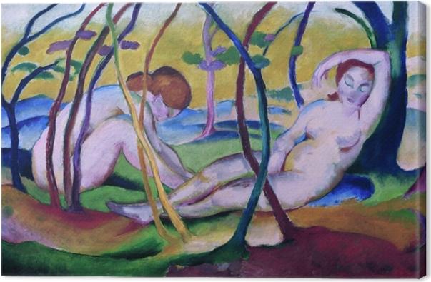 Obraz na płótnie Franz Marc - Nagie pod drzewami - Reproductions