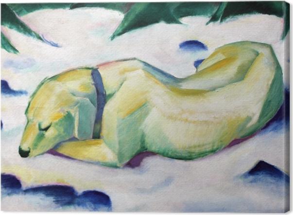 Obraz na płótnie Franz Marc - Pies leżący na śniegu - Reproductions