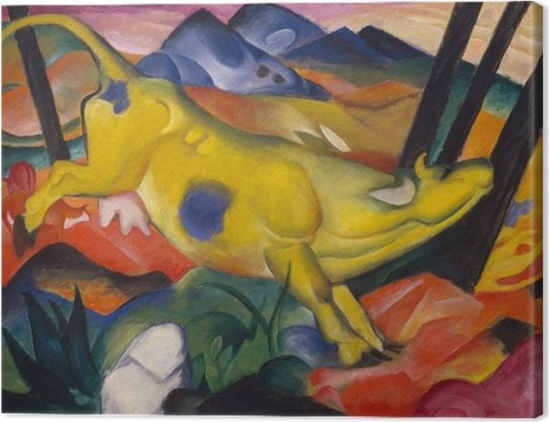 Obraz na płótnie Franz Marc - Żółta krowa - Reproductions
