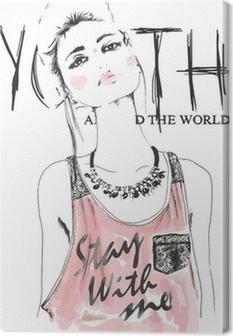 Obraz na płótnie Girlsketch