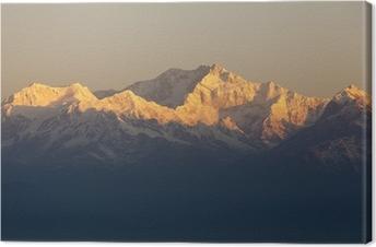 Obraz na płótnie Góra Kanchenjunga z Tiger Hill. Darjeeling.