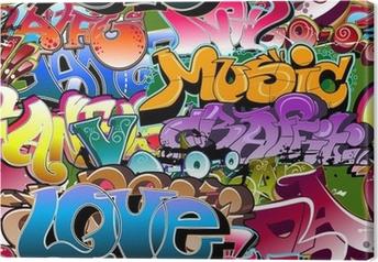 Obraz na płótnie Graffiti bezszwowe tło. hip-hop sztuki