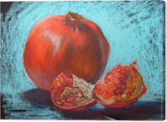 Obraz na płótnie Granat pastele malowanie ilustracji, bight turkusowy niebieskim tle