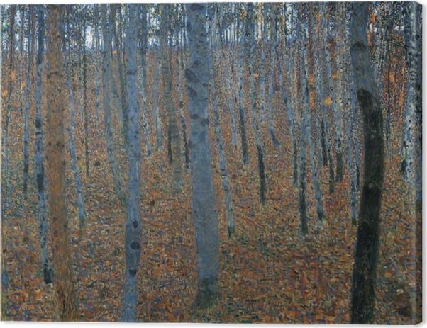 Obraz na płótnie Gustav Klimt - Brzozowy las - Reprodukcje
