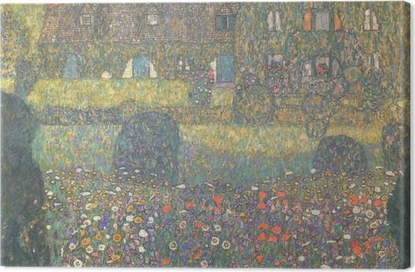 Obraz na płótnie Gustav Klimt - Chatka nad jeziorem Attersee - Reprodukcje
