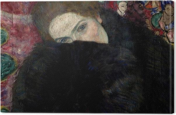 Obraz na płótnie Gustav Klimt - Kobieta w kapeluszu i boa z piór - Reprodukcje