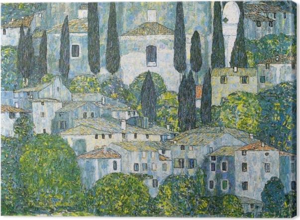Obraz na płótnie Gustav Klimt - Kościół w Cassone - Reprodukcje