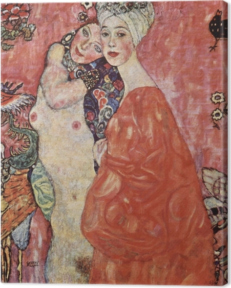 Obraz na płótnie Gustav Klimt - Przyjaciółki - Reprodukcje