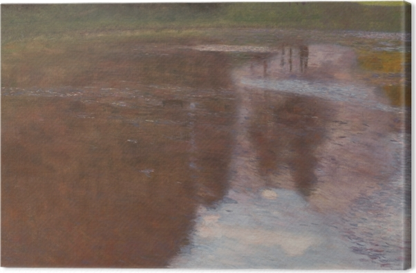 Obraz na płótnie Gustav Klimt - Spokojny staw - Reprodukcje