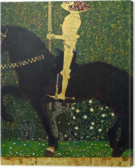 Obraz na płótnie Gustav Klimt - Życie jest walką. Złoty rycerz. - Reprodukcje