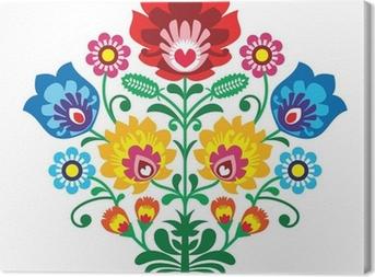 Obraz na płótnie Haft ludowy z kwiatami - tradycyjny polski wzór