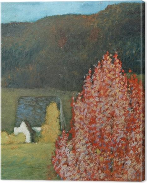 Obraz na płótnie Helmer Osslund - Jesienny pejzaż z drzewami - Reproductions