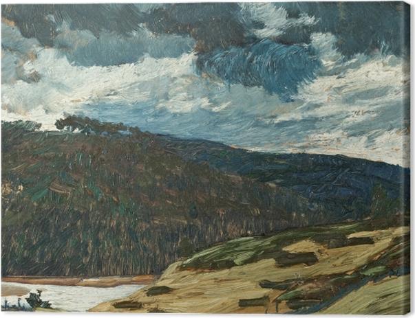Obraz na płótnie Helmer Osslund - Letni dzień nad rzeką Ljungan - Reproductions