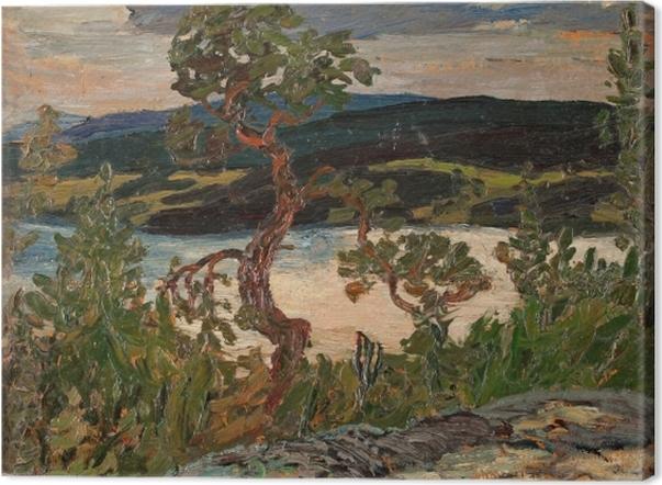 Obraz na płótnie Helmer Osslund - Wieczór w Ångermanland - Reproductions